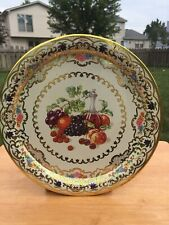 DAHER Decorated Ware Plate Fruit Made England Design