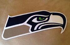 "MEDIUM 6"" SEATTLE SEAHAWKS NFL Football Team Logo Iron-on Jersey/Sweater PATCH!"