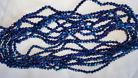 Joblot 10 strings (1200 beads) 4mm Blue AB Finish bicone Crystal beads new