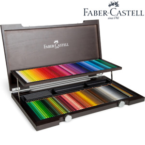 NEW 120 Faber-Castell Polychromos Colour Colouring Pencils Wooden Set Box Wood