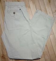 Tommy Hilfiger Men's Off White Flat Front Pants | Size 32/34 | 100% Cotton