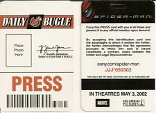 Spider-Man Daily Bugle Press Pass ID Card Badge - Movie Theater Promo