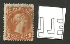 Canada 1868 Large Queen 1c brown red 'Bothwell Watermarked' #22a  used