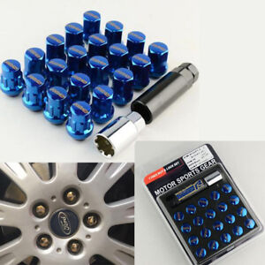 20PCS Car Wheel Screws Nuts w/ 2 Remove Tools Set M12x1.5 Anti-theft Alloy Steel