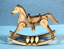 Dollhouse Miniature Rocking Horse Kit - 1:12 Scale