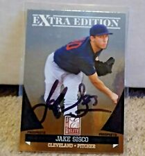 Jake Sisco Autographed Foil Rookie Card #29 Panini 2011 Cleveland Indians