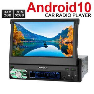 "Pumpkin 7"" Android 10.0 Autoradio Single 1 DIN GPS Navi Bluetooth WiFi DAB+ USB"