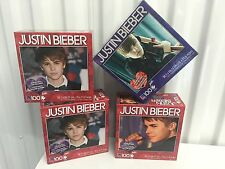 "Four (4) 100 piece 15"" X 11"" Justin Bieber Puzzle MIB Sealed Vintage NOS Sealed"
