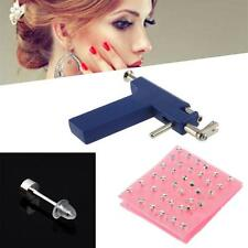 HOT Professional Ear Nose Navel Body PIERCING GUN Tool set jewelry 72 studs #O