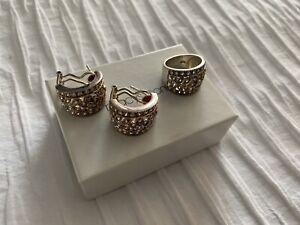 Sterling silver cubic zirconia 925 Earrings & Ring Set Macy's