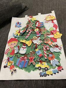 vintage  1970's advent calendar on Christmas tree