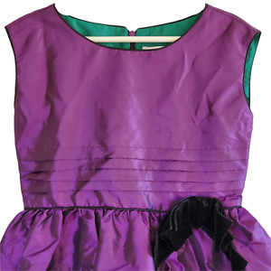 American Girl Sleeveless Flared Swing Dress Sz 6 Holiday Party Purple Shimmery