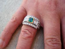 TOP Ring 750 Gold 1 Smaragd 1,00 CT 42 Brillanten ca 1,50 ct Anello 18K ca 9,1 g