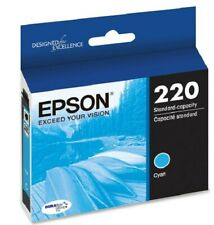 Epson 220 Cyan Ink Cartridge T220220 -NEW sealed box fresh date durabrite ultra