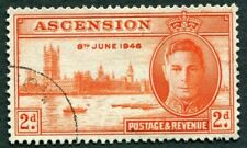 ASCENSION 1946 2d red-orange SG48 used NG Victory Omnibus Issue #W23