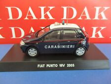 Die cast 1/43 Modellino Auto Carabinieri Fiat Punto 16V 2003