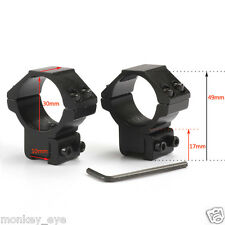 30mm Low Ring 11mm Rail Weaver Mount Flashlight Scope Laser Sighter Hunting M29