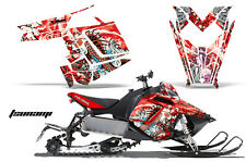 AMR Racing Sled Wrap Polaris Pro RMK Rush Snowmobile Graphics Kit 11-14 TSUNAMI