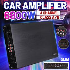 6800W Auto Verstärker Car HiFi Amplifier 4 Kanal Endstufe Bass Boost 12V A/B DE