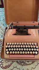 Vintage 1950's Typewriter Smith Corona Pink Silent Super Case Travel Diction