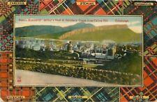 Edinburgh Scotland~Clans Tartan Plaid Border~Arthur's Seat~Stewart~Mackintosh