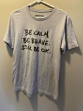 Guster Shirt Mens M Short Sleeve Be Calm Be Brave Concert Band