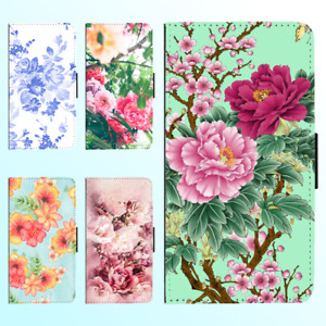 For Galaxy S21 Ultra S20 S10 20 10 Plus 9 Flip Wallet Case Flower Floral I Cover