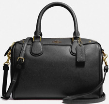New Coach 32202 mini Bennett Satchel Crossgrain Leather handbag Black