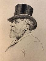 Henri Guerard gravure eau forte etching Portrait Collectionneur Philippe Burty