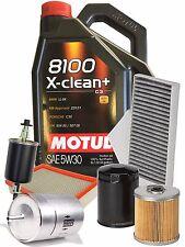 MANTENIMIENTO 4 FILTROS + 5 LT ACEITE MOTUL 8100 X-CLEAN + 5W30 C3 AUDI A3 8P