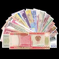 Lot 20 PCS paper Notes From 20 Different Countries, Vietnam, Mozambique, UNC