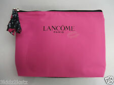 New ~ Lancome French Kiss Pink Zippered Cosmetic Makeup Bag ~ FREE SHIPPING!