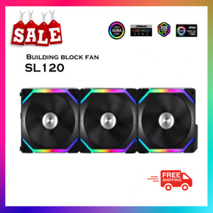 LIAN LI UNI FAN SL120 Cable Free ,Black OR White,3 PACKS With Remote control RGB
