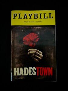 HADESTOWN Musical Broadway OBC Playbill. Amber Gray, Eva Noblezada, Patrick Page