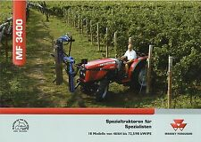 Prospekt Massey Ferguson MF 3400 1 05 2005 Spezialtraktor 3425 3445 3455 Trecker