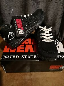 🦍 UK 3. Gorilla Wear Brooklyn Knitted Sneakers Trainers–Black/White. New+tags.