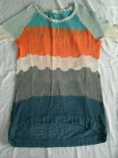 Anthropologie Moth Knit Tunic Topographic Pullover Color Block XS Extra Small
