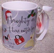 Jumbo Coffee Mug Naughty Nice I have Outfits for Both NEW 30 oz cup w/ gift box