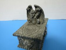 Vandor Medieval Decor Winged Gargoyle Statue Jewelry Trinket Box 1997