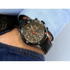 TISSOT T0674172605100 Black Dial PRS 200 Black Leather Quartz Men's Watch