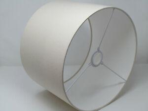 Linen Cotton Drum Lampshade Hazel Taupe  Pale Beige Ivory Vintage Cream Pendant