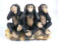 Affe Schimpanse 3 Stück Affen der Indische Weisheit 13 cm Poly Figur NEU
