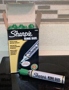Full Box Green Sharpie Vintage Sanford Old School Ink Old School Smell King Size