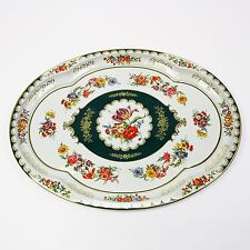 """Vtg 1971 Daher Designed Ware Tin Metal-ware Serving Tray England 20"""" X 15"""" Oval"""