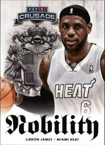 2013-14 Panini Crusade Nobility Miami Heat Basketball Card #9 LeBron James