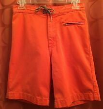 27 28 Vintage 90s TODD OLDHAM JEANS USA Orange All Cotton SURF JAMS Board Shorts