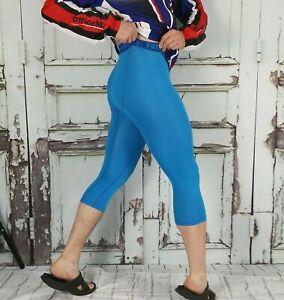 Nike Pro Combat Pants Compression BLUE Crop Tights Medium