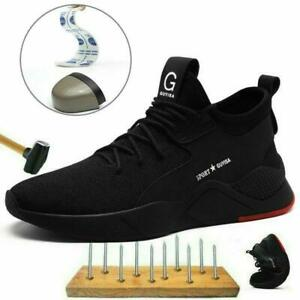 Breathable Men Women Lightweight Safety Steel Toe Cap Shoes Trainers Work Boots