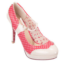 Dancing Days Vintage Rockabilly High Heel Pumps Schuhe - Mary Jane Polka Dot Rot