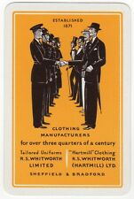 Playing Cards Single Card Old WHITWORTH Fashion Clothing Advertising Art Design